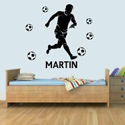 Customised Personal Football Childrens Bedroom Name Wall Art Decal Sticker
