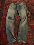 Rare Red Tab Jeans With Patches Sz 31x32
