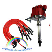 For Sbc Bbc 305 350 454 V8's 90 Spark Plug Wires Hei Distributor And 10.5 Mm Red
