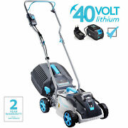 Swift 40v 15 Brushless Cordless Lawn Mower Lawnmower With Battery And Charger