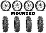 Kit 4 Bkt At 171 Tires 33x8-18 On Msa M36 Switch Machined Wheels Fxt