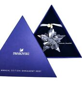 New 100 Crystal 2021 Annual Edition Ornament Display Deco 5557796