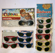 Vintage Dime Store Counter Display Children's Sunglasses Colorful Hong Kong Toy