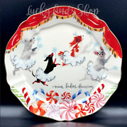 Anthropologie Inslee Fariss 12 Day Christmas Menagerie Plate Ladies Dancing Dogs