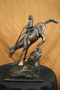 Mountain Man By Frederic Remington Solid Bronze Collectible Sculpture Statue 25