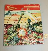 Unused Vtg 1950s 1960s Target By Superior Tin Lithographed Army Tank Graphics