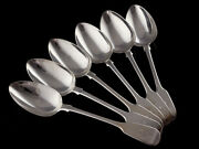 1831 Sterling Silver Set Of Dinner Spoons By Wm Chawner