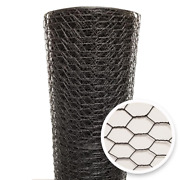 Poultry Netting Vinyl Coated Chicken Wire Fencing 1 Inch X 5 X 150 Feet Black