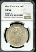 1946 100kl Ngc Au 58about Uncirculated 58 Romania Fw73
