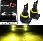 Led Kit M10 100w H9 3000k Yellow Two Bulbs Headlight Replacement Lamp Motorcycle