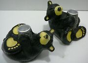 Bearfoots Bears Jeff Fleming Big Sky Carver Miles And Constance Candle Holder Set