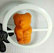 New Vintage Ussr Rattle Bear In A Circle Of Plastic Baby Toy Activity Toys