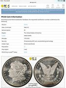 1882 Cc 1 Pcgs Ms 63+ Dmpl 6687 Morgan Silver Dollar Gold Shield Over The Top