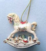 Lenox 'vintage' Rocking Horse Ornament Baby 1st Christmas Not Dated New In Box