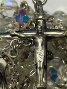 † Old Stock Nwt Vintage Creed Sterling Double Capped Rosary Necklace 32 †