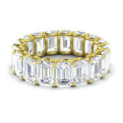 3.40 Ct White Topaz 14k Yellow Gold Womens Eternity Band Size 7 Valentineand039s Gift