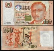 Singapore 100 Dollars P42 1999 Bccs Red Cross Unc St.john Police Scout Bank Note