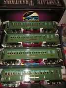 Lionel Mth 10-5032 412 413 414 416 Std. Gauge Two-tone Green 4 Car State Set