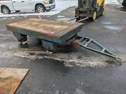 Heavy Duty Cast Iron Steel Die Mold Transfer Factory Cart Tow Flatbed Trailer
