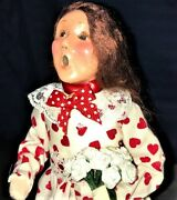 """Byers Choice Ltd. Valentine Girl 2016. """"the Carolers"""" Collection."""" Doll Figurine"""