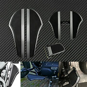 Driver Passenger Floorboards Brake Pedal Cover Set Fit For Touring Softail Trike