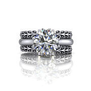1.26 Ct Round Diamond Solitaire Womenand039s Rings 14k White Gold Fine Ring Band Sets
