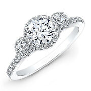 1.22 Ct Round Real Diamond Ring 14k White Gold Ring Size 5 6 7 8 Valentines Gift