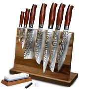 Chef Knife Set Damascus 73 Layers Magnet Holder Stainless Steel Knives Set