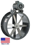 Tube Axial Duct Fan - Belt Drive - 18 - 1.5 Hp - 230/460v - 3 Phase - 5350 Cfm