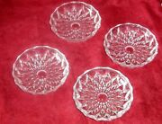 Gorham Crystal Coasters Althea Set Of Four New In Box Vintage
