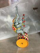 Tucher Walther Circus Elephant Tin Toy Friction Vintage