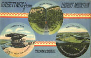 Tennessee Greetings From Lookout Mountain G. N. Co. Linen Postcard Vintage