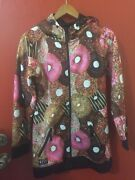 Neff Custom Goods Pink Donuts Hoodie Jacket Size Large Polyester Braving The Ele