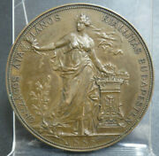 Hungary National General Exhibition In Budapest 1885 Medal 51.8mm 69g Bronze