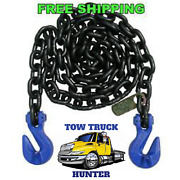 G100 5/8 X 20and039 Chain With Grab And Grab Hooks.wreckerrollbacktow Truckrotator.