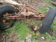 Vintage Farmall Tractor Front End With Hubs And Rims W12 Mccormic Deering
