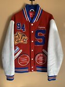 Supreme Tiger Varsity Jacket Red 2009 Rare Medium Leather Wool Patches