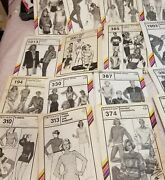 Lot Of 74 Vintage 1980's Stretch And Sew Patterns -ann Person-uncut