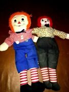 Rare Antique Knickerbocker Raggedy Ann And Andy Cloth 2 Andy Dollsandnbsp3and039 Original