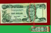 Series 1996 Central Bank Of The Bahamas One Dollar Note Queen Elizabeth Ii Stamp