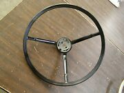 Oem Ford 1963 1964 Galaxie 500 Black Steering Wheel For Power Steering