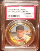 Psa 10 Gem Mint 10 - Roger Clemens 1989 Topps Coins Card Boston Red Sox