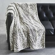Better Homes And Gardens Oversized Throw Blanket 50 X 70 Silver Animal Print