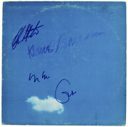 Plastic Ono 4 Clapton Ono Voormann And White Signed Album Cover W/ Vinyl Bas