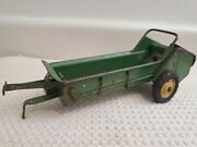 Vintage 1950and039s Ertl Eska John Deere Metal Toy Long Lever Manure Spreader