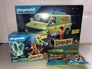 Playmobil Scooby-doo Mystery Machine Set 70286 And 70287 Bundle-70288 Two Figure