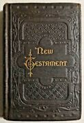 Antique 1887 New Testament By New York American Bible Society 270th Edition-4326