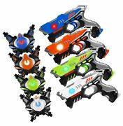 Histoye Laser Tag Guns Sets Of 4 Players Game Laser Tag Sets With Gun And Ves...
