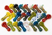 3 Collectible Candy Crush Glass Hand Tobacco Smoking Pipes Bundle 25pcs - Asst