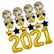 New Years Eve Party Supplies 2021 Nye Decorations, Black Gold Silver Confetti...